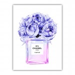 Chanel Violet Flower Perfume Bottle Canvas Print