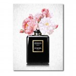Chanel Coco Noir Flowers Canvas Wall Art Print