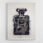 Chanel Coco Noir Splash One Canvas Wall Art Print