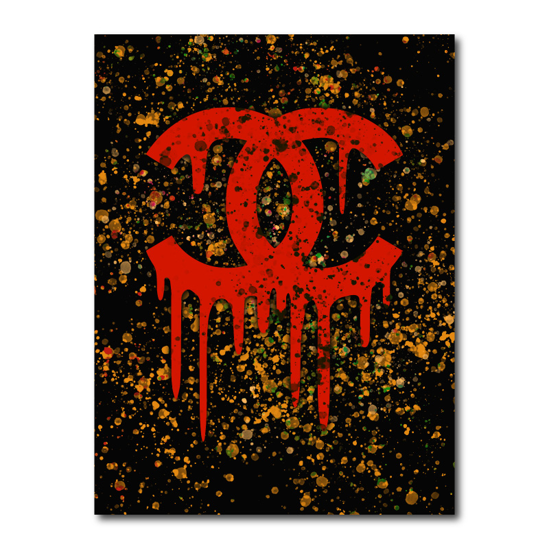 Chanel Color Splash One Canvas Wall Art Print