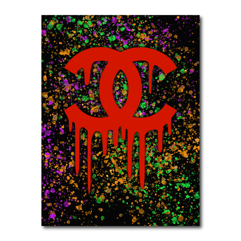 Chanel Color Splash Two Canvas Wall Art Print