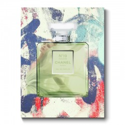 Chanel No19 Abstract Canvas Print