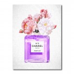 Chanel Purple Perfume Flowers Canvas Wall Art Print