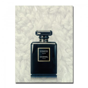 Coco Chanel Noir Perfume Bottle Canvas Art Wall Print