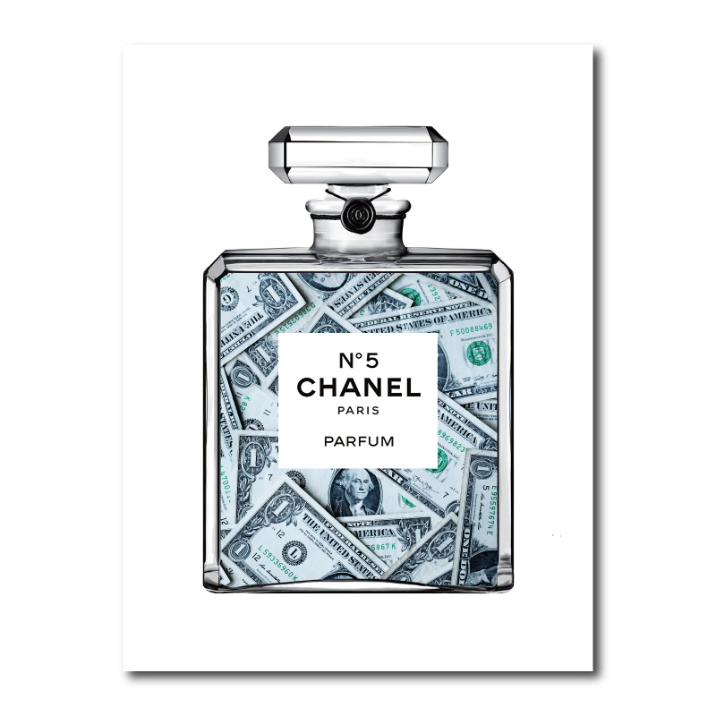 Dollars in Chanel Canvas Wall Art Print