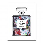 Girl In Chanel Canvas Wall Art Print