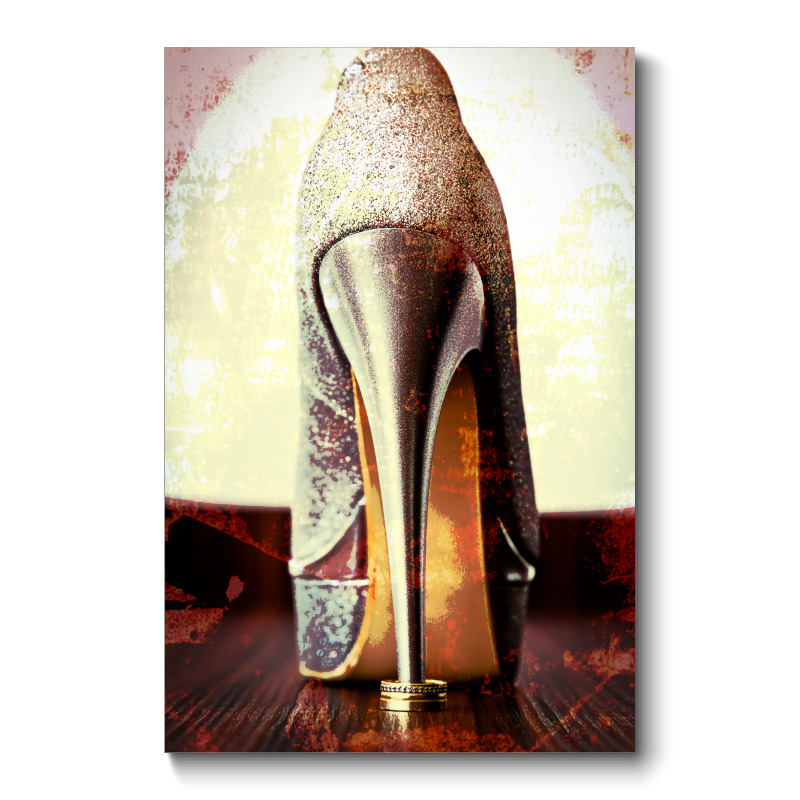 Gold High Heel Canvas Print