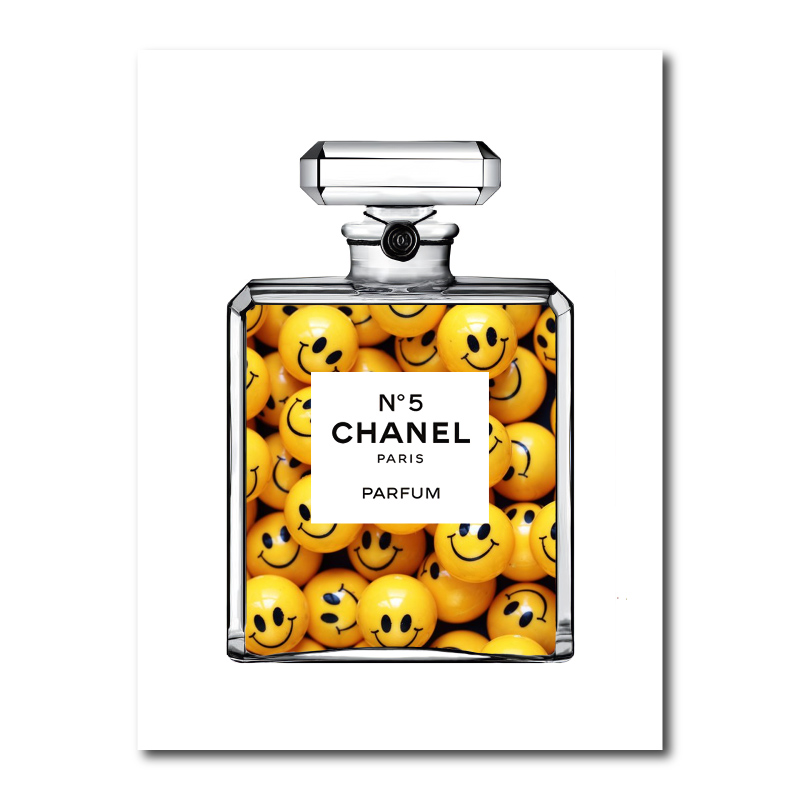 Happy Chanel Canvas Wall Art Print