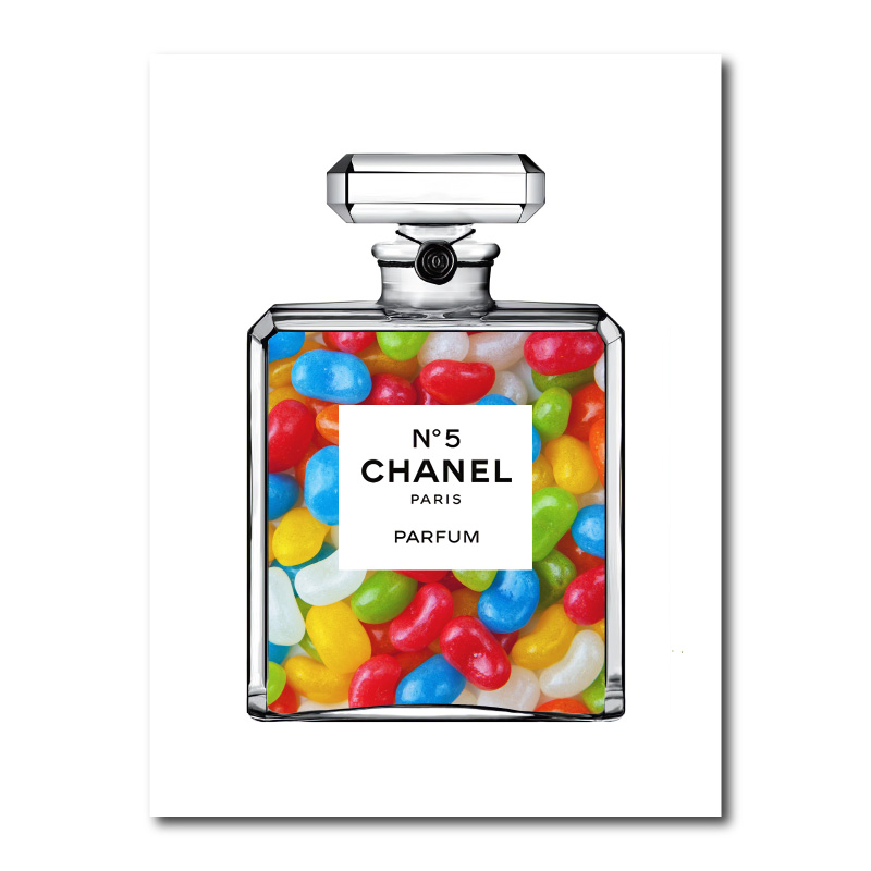 Jelly Beans in Chanel Canvas Wall Art Print