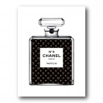 LV In Chanel Canvas Wall Art Print