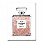Luscious Rose Gold in Chanel Canvas Wall Art Print