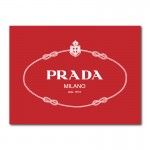 Prada Logo Wall Art Canvas Print