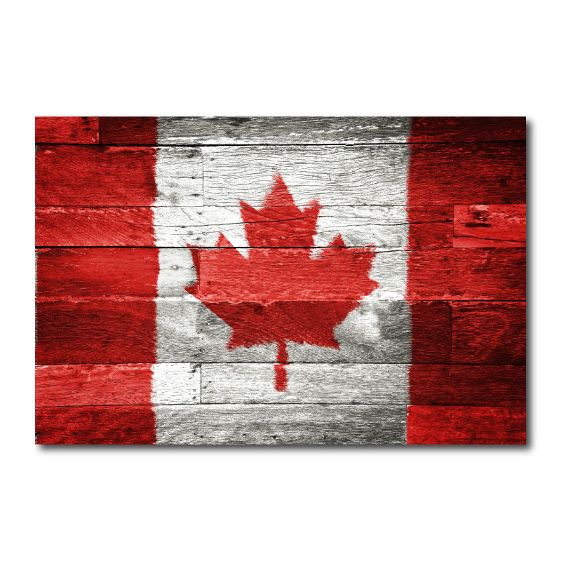 Canadian Flag Wall Art Canvas Print