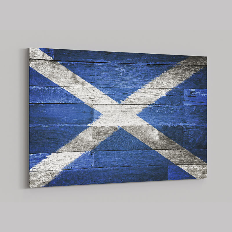 Scottish Flag Wall Art Canvas Print