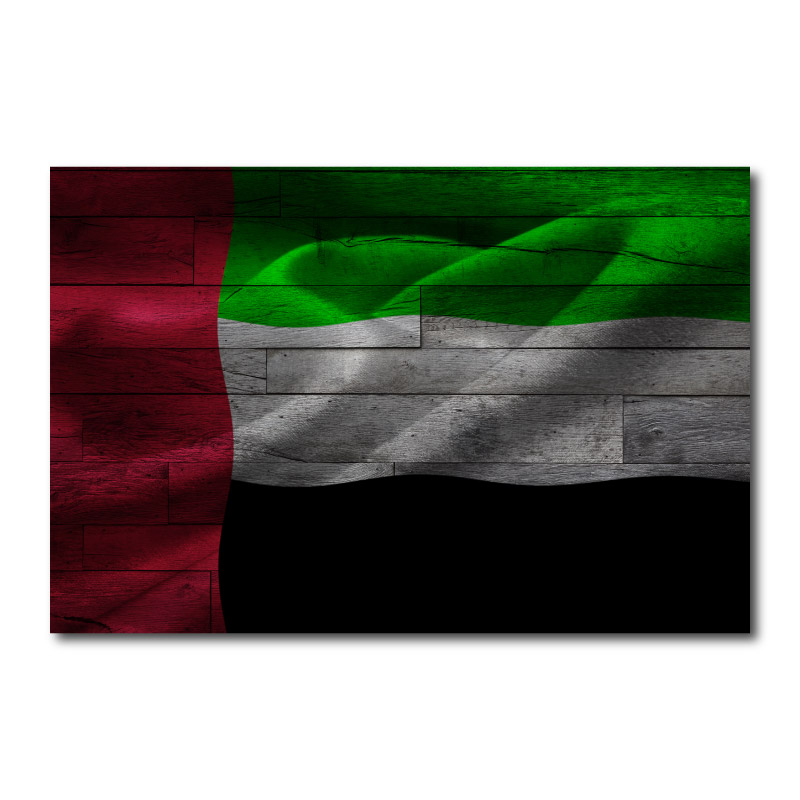 UAE Flag Wall Art Canvas Print