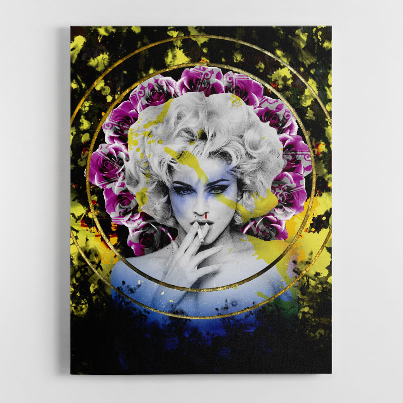 The Queen of Pop Canvas Wall Art Print