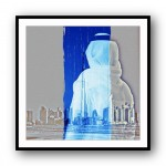 Look Twice Arabia 13 Framed Art Print