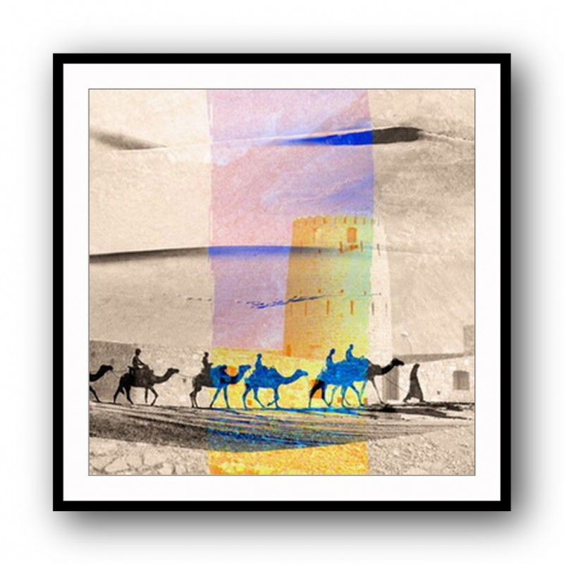 Camels Abstract Framed Art Print