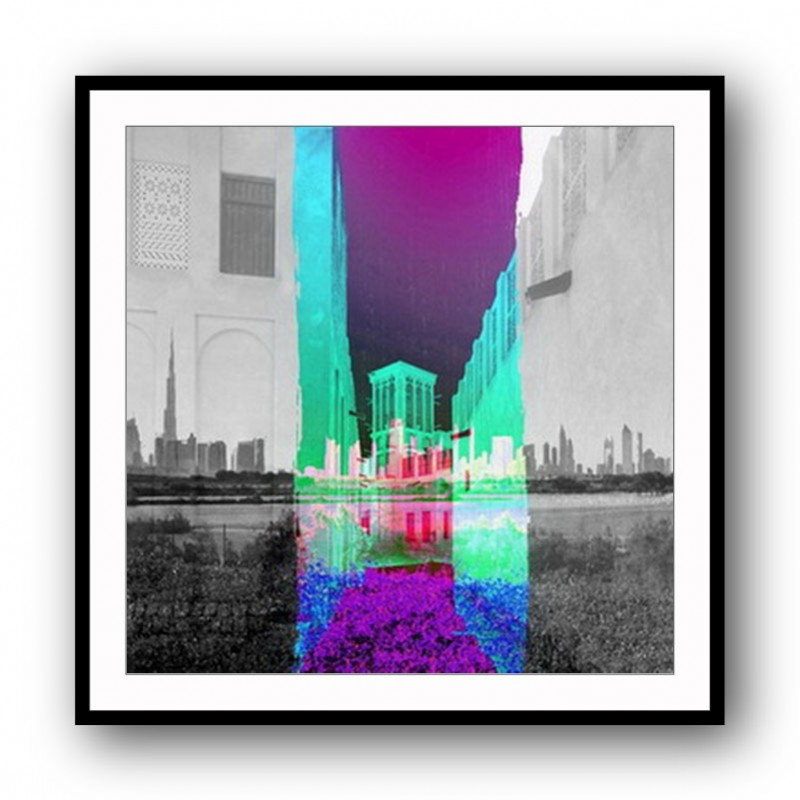 Old Town Abstract Framed Art Print