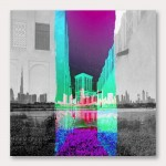 Old Town Abstract Canvas Wall Art Print
