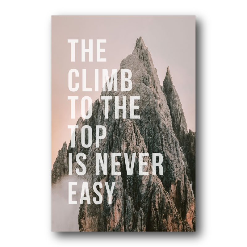 The Climb To The Top Canvas Wall Print