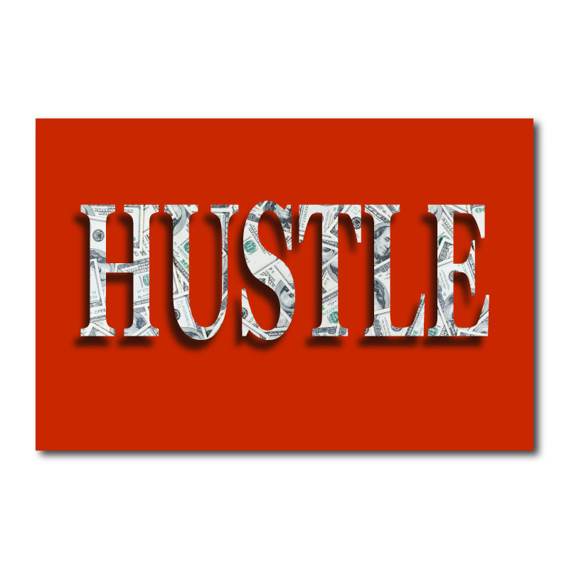 Hustle Dollars Canvas Wall Art Print
