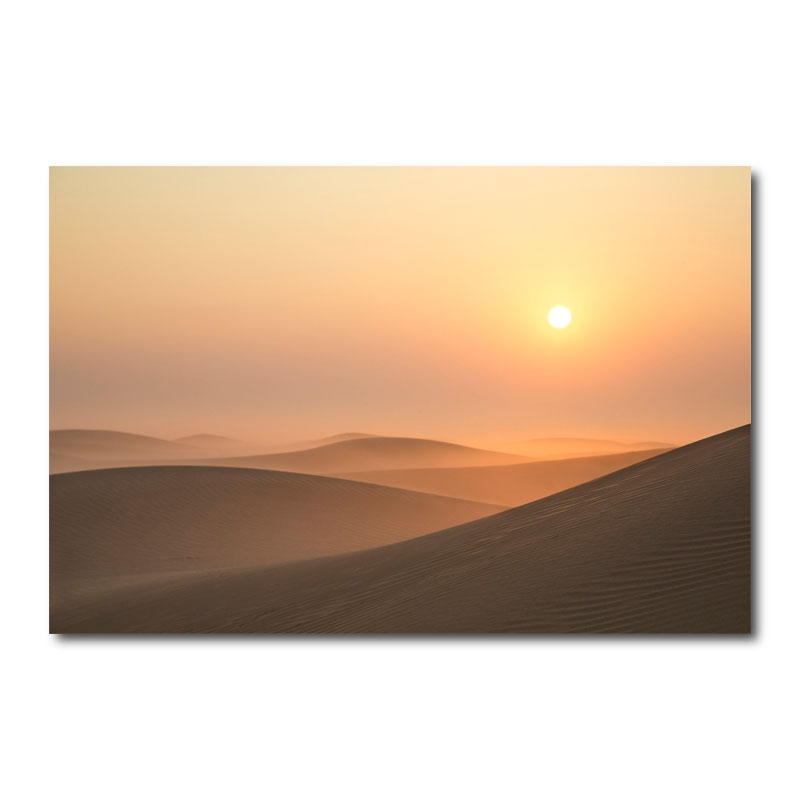Misty Desert Sunrise By Katie Aun Wall Art Canvas Print