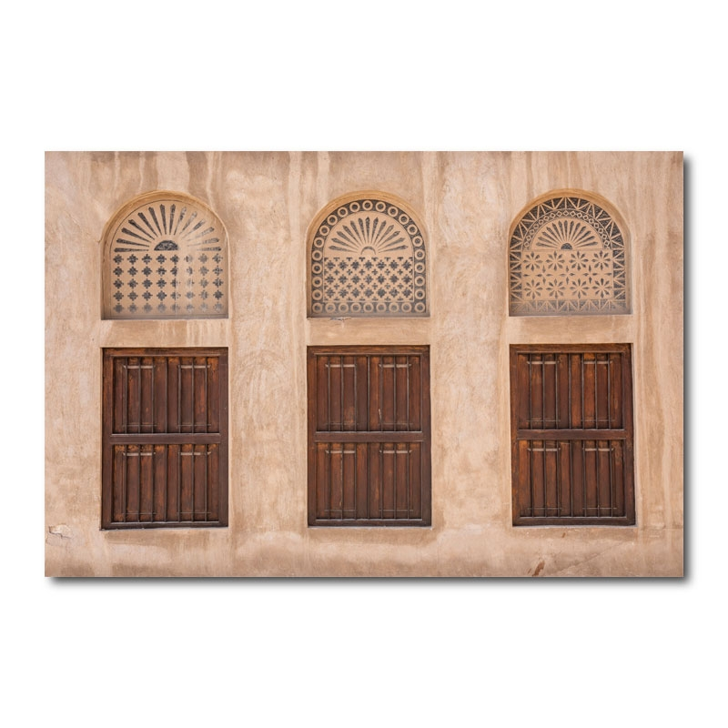 Traditional Windows By Katie Aun Wall Art Canvas Print