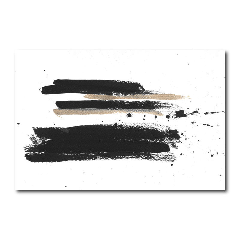 Three Lines C Abstract Canvas Wall Art Print