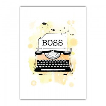 Boss Canvas Wall Art Print