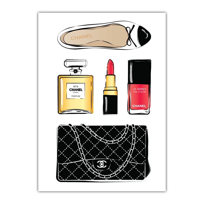 Chanel Accessories Canvas Wall Art Print