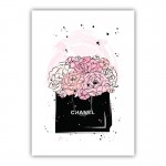 Chanel Flowers Canvas Wall Art Print