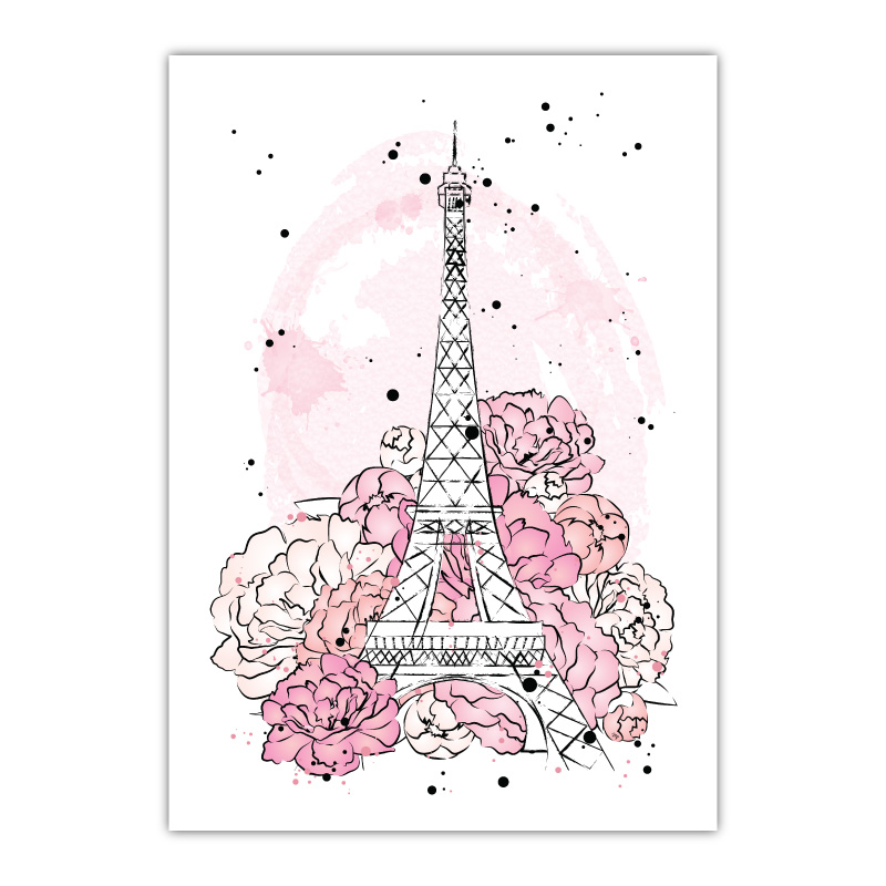 Eiffel Tower Canvas Wall Art Print