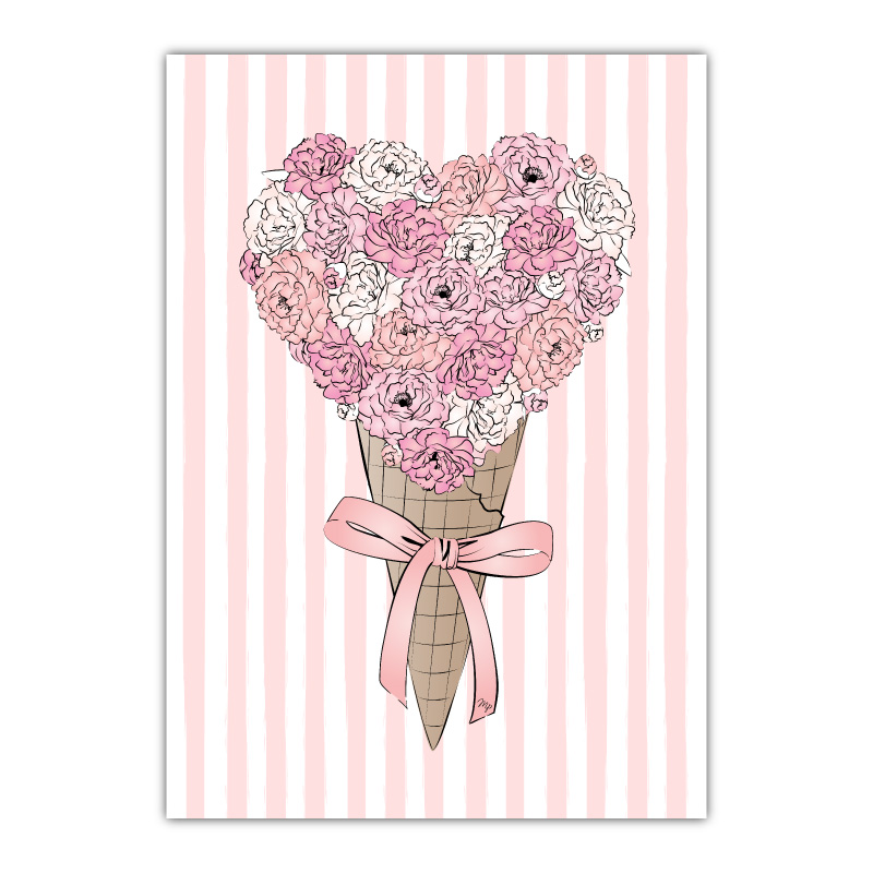 Ice Cream Flowers Canvas Wall Art Print