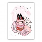 Macaron Shoes Canvas Wall Art Print