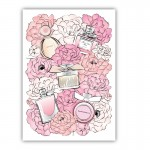 Perfume & Flowers Canvas Wall Art Print