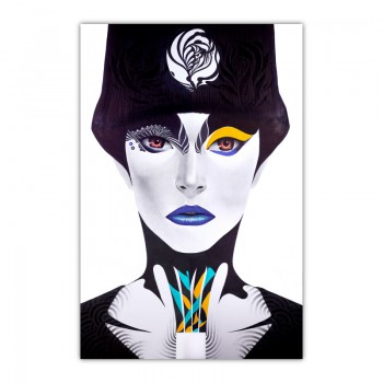 Blue Lips By Minjae Lee Wall Art Canvas Print