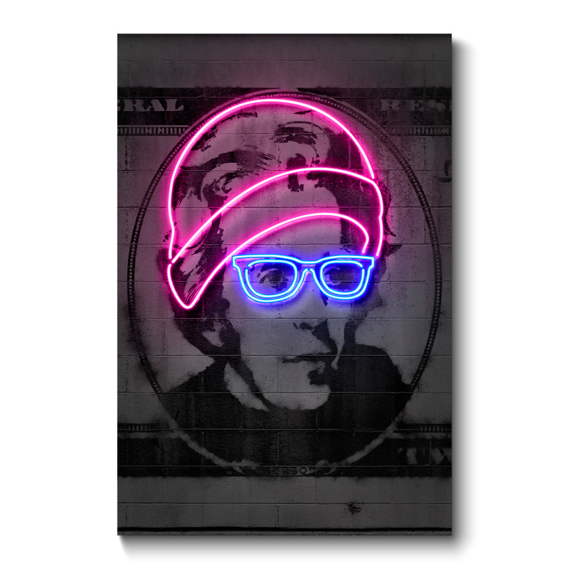 Jackson Neon Wall Art Canvas Print