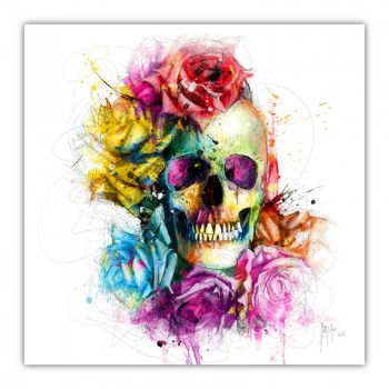 Dead or Alive Skull Canvas Wall Art Print