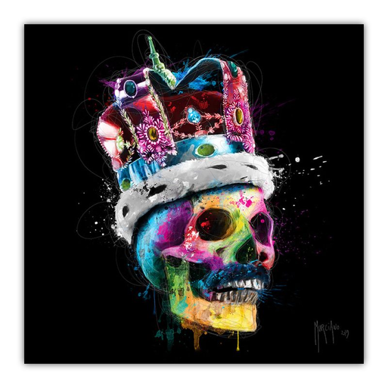 Freddie Mercury Skull Canvas Wall Art Print