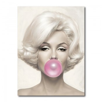 Marilyn Monroe Bubble Gum Wall Art Canvas Print