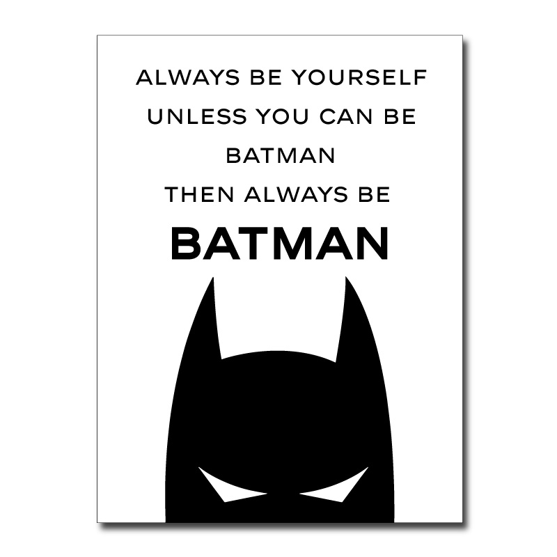 Always Be Batman Canvas Wall Print