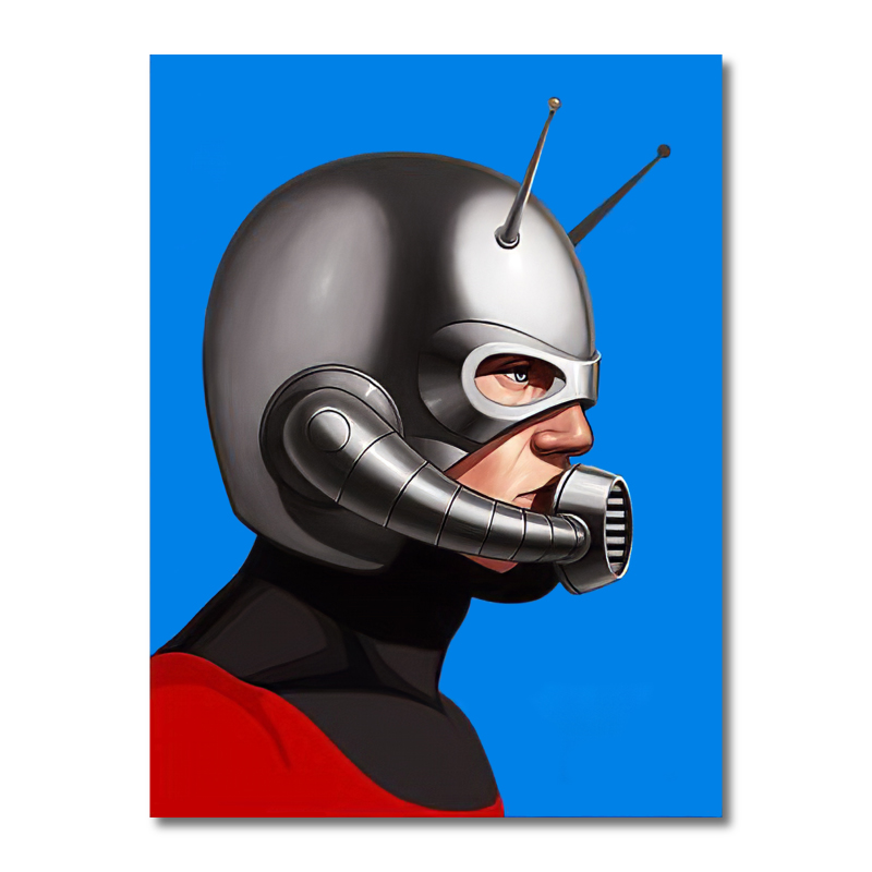 Radar Man Superhero Canvas Wall Art Print