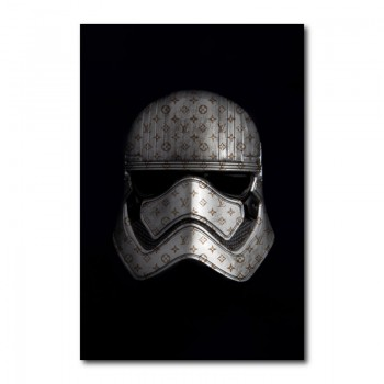 Storm Trooper in Louis Vuitton Canvas Wall Art Print