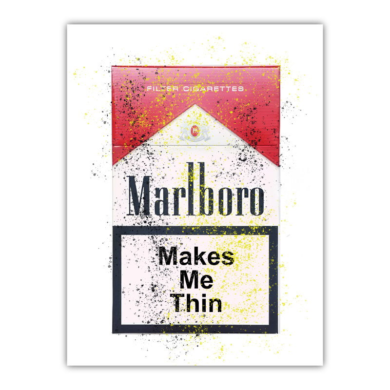 Makes Me Thin Canvas Wall Art Print