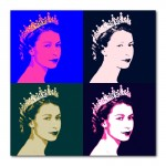 Queen Elizabeth II Pop Art Canvas Wall Art Print