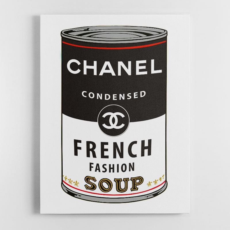 Chanel Soup Canvas Wall Art Print
