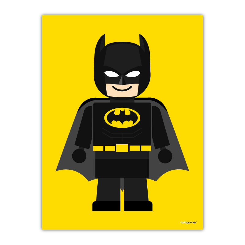 Batman Toy Canvas Wall Art Print