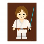 Hans Solo Toy Canvas Wall Art Print