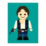 Luke Skywalker Toy Canvas Wall Art Print